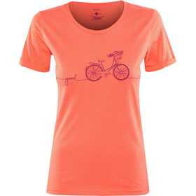 Triple2 Laag Bike T-Shirt Dam living coral
